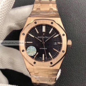 AUDEMARS PIGUETT Royal Oak Automatic Black Dial Watch Replica 1-1 Cao Cấp