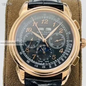 Patek Philippe Grand Complications 5271P-001 Black Fake 1-1 Siêu Cấp